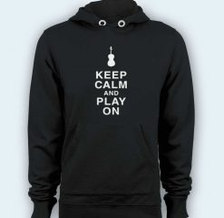 Hoodie pullover black-Keep Calm and Play On