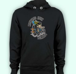 Hoodie pullover black-Manfred Hein Comedy