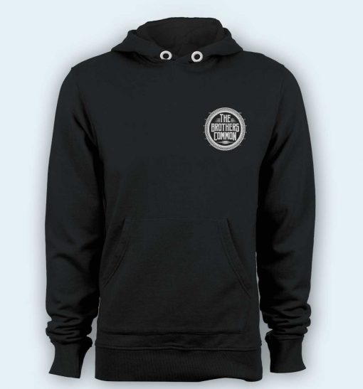 Hoodie pullover black-The brothers common Logo