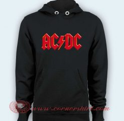 Hoodie pullover black - ACDC Logo