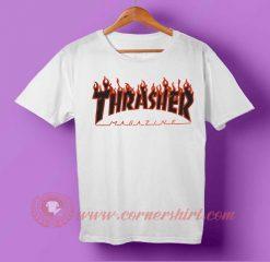 Thrasher Black Fire T-shirt