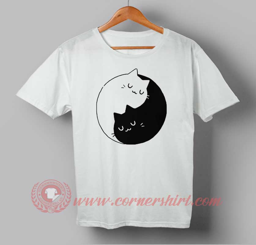 9d707fe34 Ying Yang Cat Kittens Custom Design T Shirts