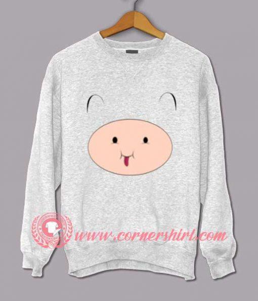 Adventure Time Finn Face Custom Design Sweat shirts