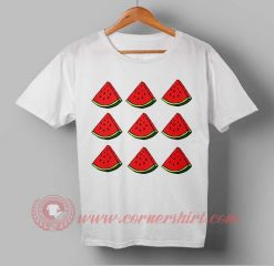 Water Melon Fruit Custom Design T shirts