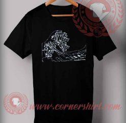 Cheap Custom Made T shirts Tsunami Wave