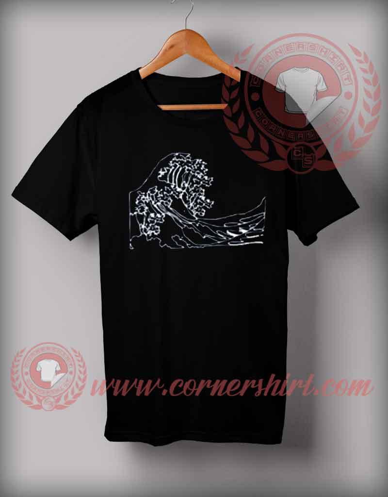 cheap custom made t shirts tsunami wave custom design t. Black Bedroom Furniture Sets. Home Design Ideas