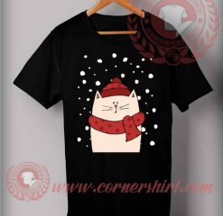 Cat With Scraft T shirt
