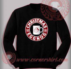 Christmas Eggnog Sweatshirt Funny Christmas Gifts For Friends