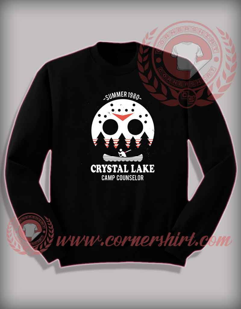a2ec7333 Crystal Lake Camp Counselor Sweatshirt - Halloween Shirts For Adults