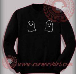 Cheap Costume Halloween Sweatshirt Boo Boobs