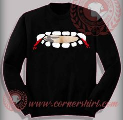 Vampire Fang Teeth Out Sweatshirt