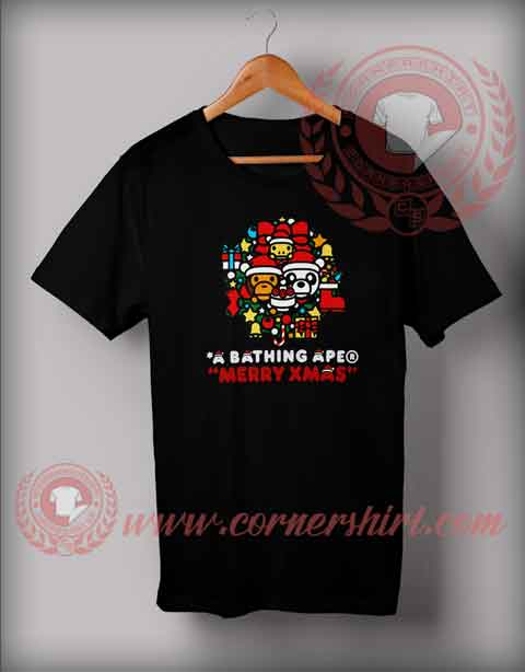 A Bathing Ape Merry Xmas T shirt