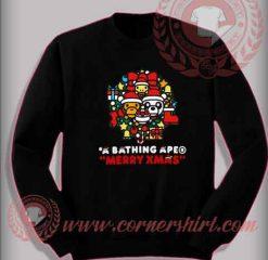 A Bathing Ape Merry Xmas Sweatshirt