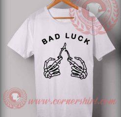 Bad Luck Finger Skull T shirt