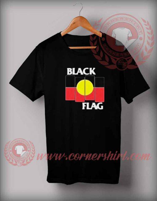 Black Flag Aboriginal X Flag T shirt