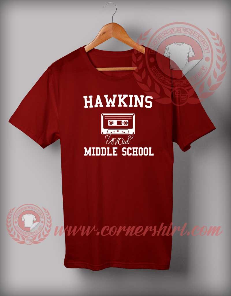 26c31155c Hawkins Middle School Stranger Things T Shirt - By Cornershirt.com