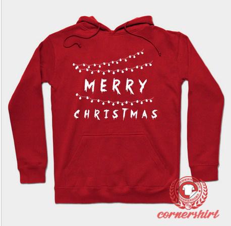 Merry Christmas Light Custom Design Hoodie