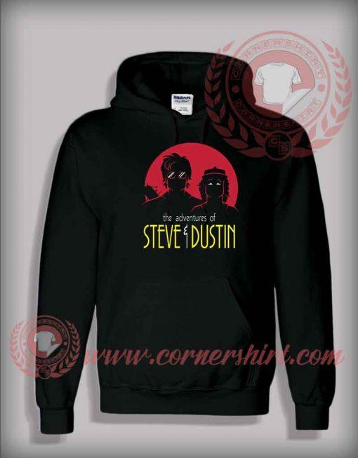 Adventures of Steve and Dustin Custom Design Hoodie