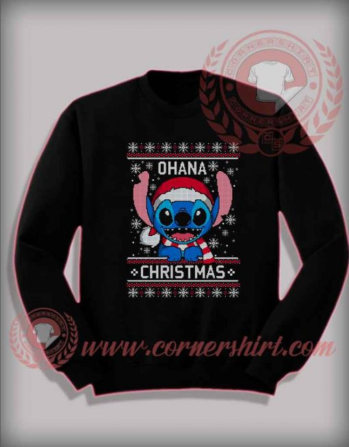 Lilo Stitch Ohana Christmas Custom Design Sweatshirt