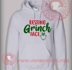 Custom Design Resting Grinch Face Christmas Hoodie