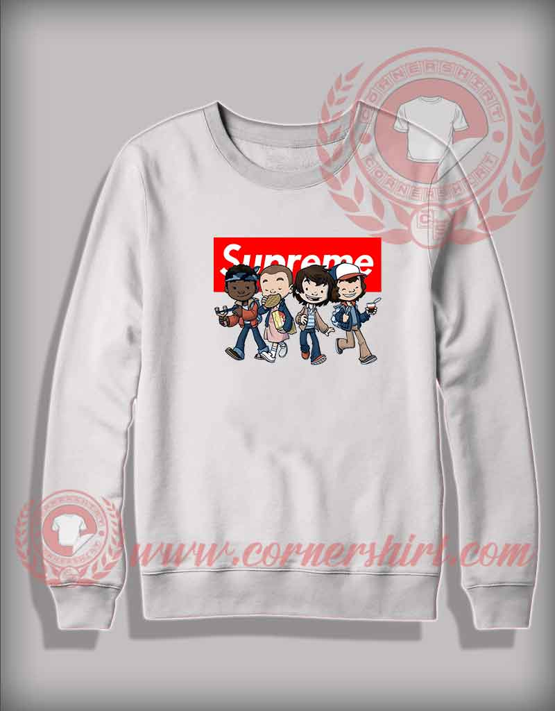 160d97f7b Custom Design Sweatshirt Stranger Things Kids Supreme