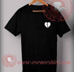Broken Heart Custom Design T shirts