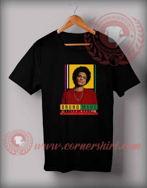 Bruno Mars 24k Magic World Tour Custom Design T shirts