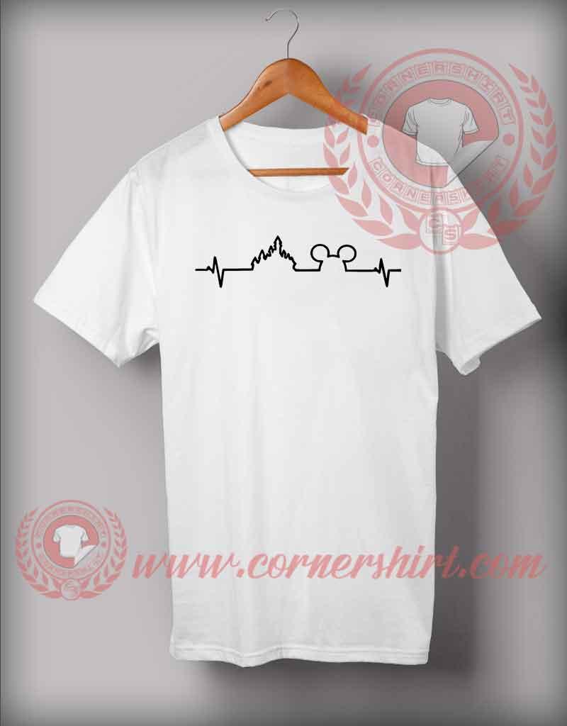 b741fdb4 Disney Heartbeat Mickey Castle T shirt - Custom Design T shirts