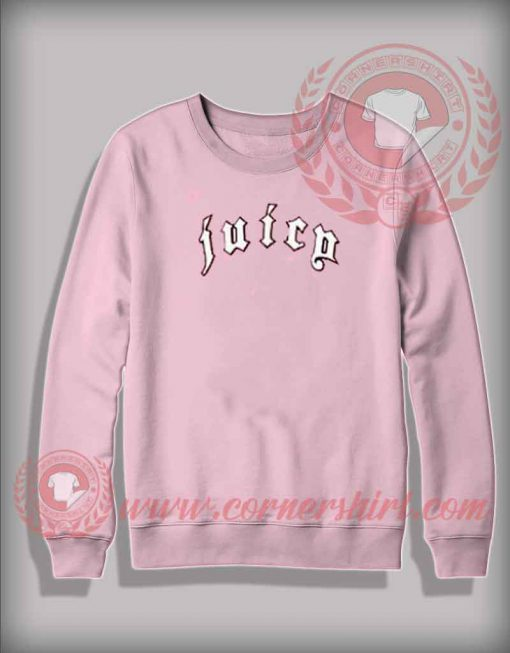 Juicy Printed Light Pink Sweatshirt