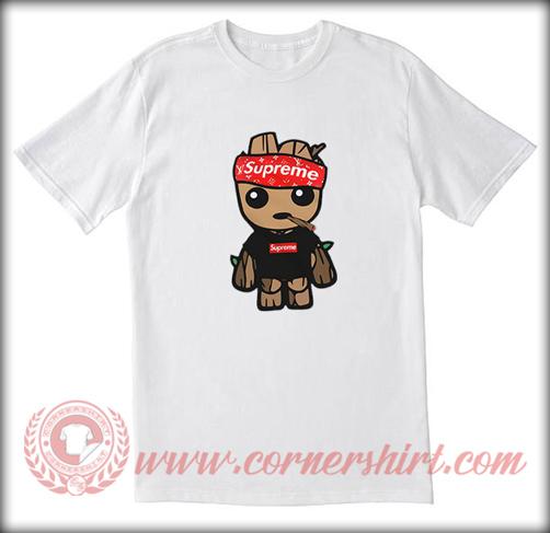 c1408aeda7b4 Supreme X Baby Groot LV Custom T shirt - Hype Streetwear - Cornershirt