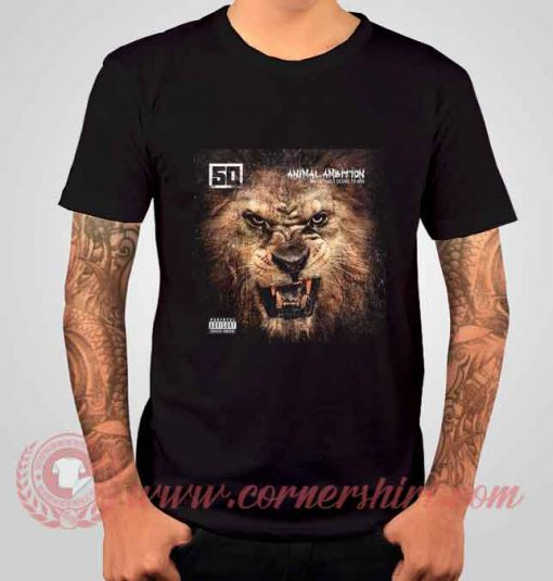 50 Cent Animal Ambition Albums T shirt