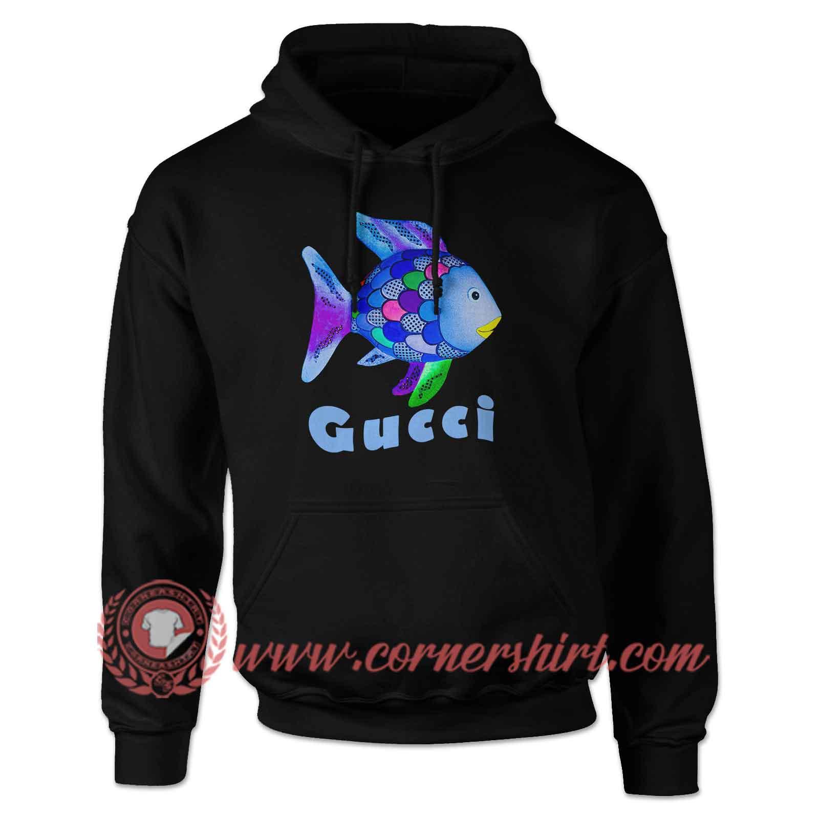 9ba2d5a40c3c Rainbow Fish Gucci Hoodie - Custom Shirt Design - cornershirt.com
